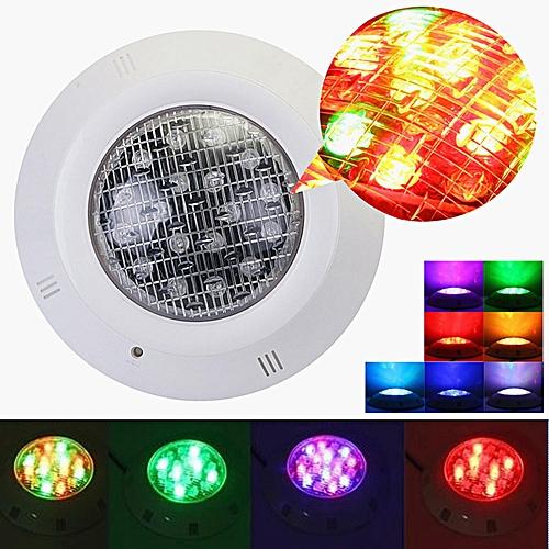 AC 12V 18W LED Swimming Pool Spa RGB Light Underwater 7 Colors IP68 Waterproof
