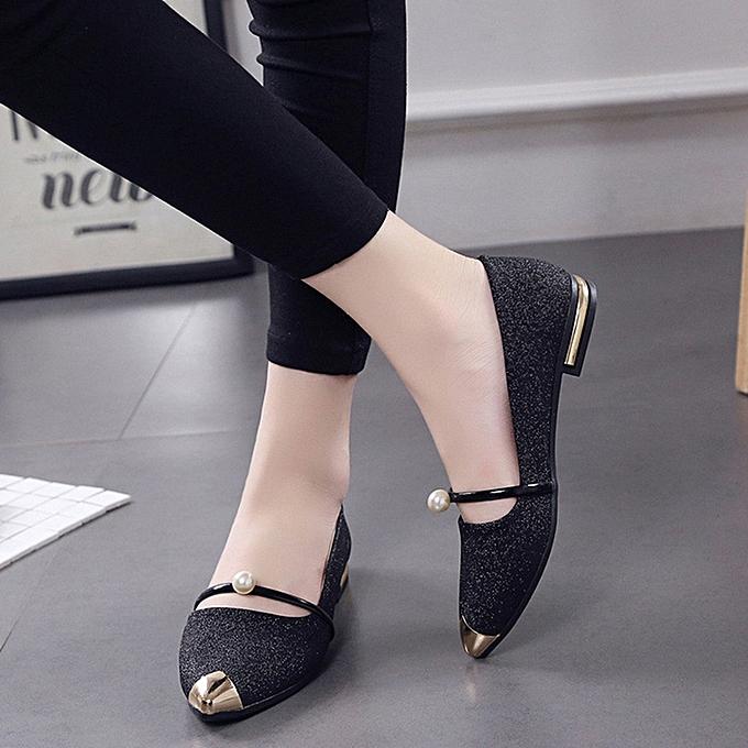 074555e25172 Fashion Women Pointed Toe Ladise Shoes Casual Low Heel Flat Shoes(EU ...