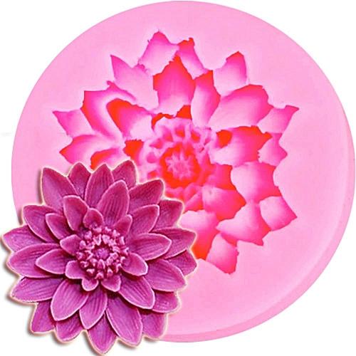 Lotus Shape Chocolate Candy Jello 3D Silicone Mold Cartoon Figre/Cake Tools Mold
