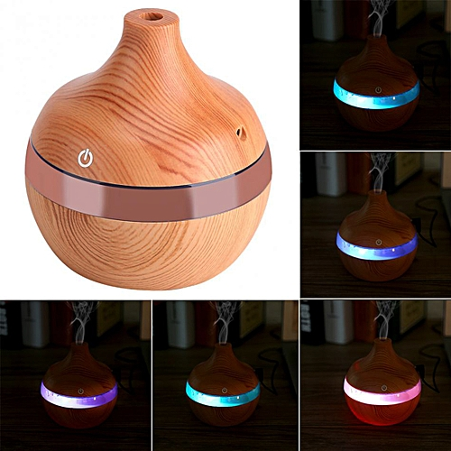 300ml USB Aroma Essential Oil Diffuser, Ultrasonic Air Humidifier W/ 7-Color Changing LED Lights
