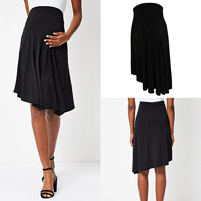 18908bffd George Asymmetric Flare Black Maternity Skirt | Jumia NG