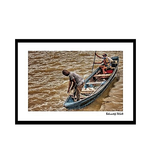 Fishermen Modern Wall Frame Canvas Picture ( Print 30 X 42cm)