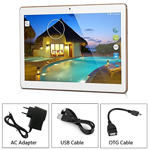 10.1inch Octa Core 4G/64G MTK6592 3G Call Wifi GPS Dual SIM Dual Standby Tablet Champagne Golden