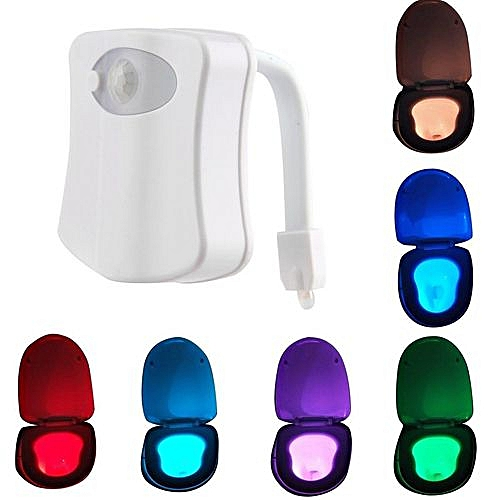 Toilet Toilet LED Lamp Lights Creative Gifts Inductive Luminescent Night Light Wall Sconce