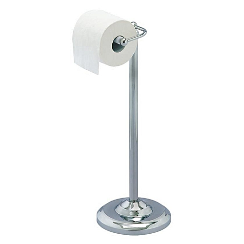 Chrome Plated Free Standing Toilet Roll Stand