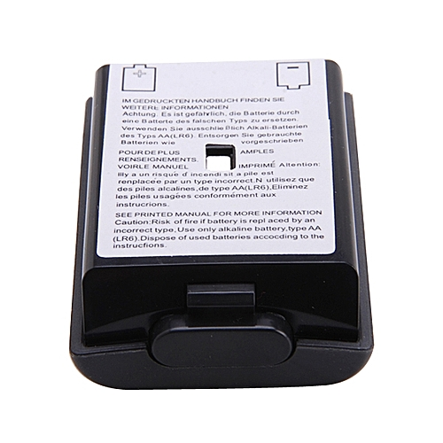 Battery Back Cover Case Shell Pack Part For Xbox 360 Wireless Controller Black (Intl)