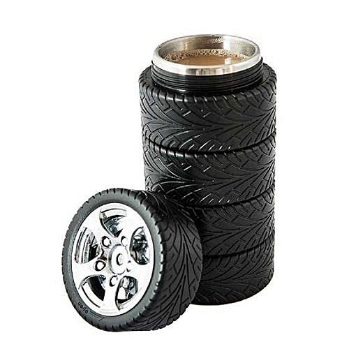 Tyre Stainless Steel Mug - Black
