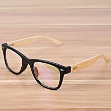 385b5f07800 Korean Fashion Eye Glasses Frame Bamboo Matte Black Eyewear Frames Spectacle  For Women Men