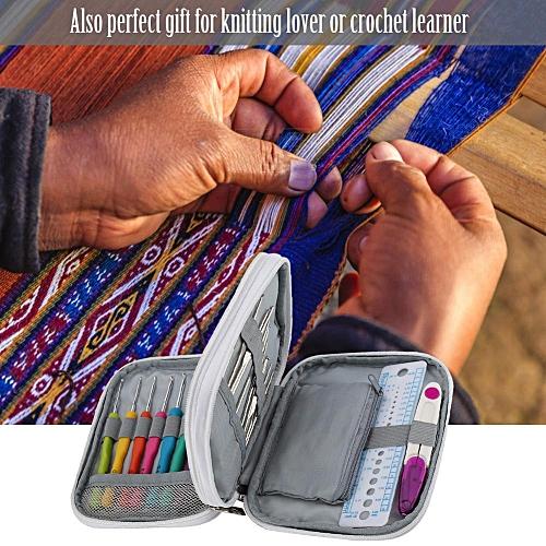 72Pcs Crochet Hooks Knitting Needles Tools Kits Set Storage Case Accessory