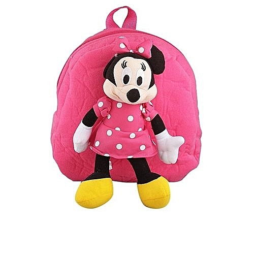 Generic Children s Cartoon Character Minnie Mouse Teddy School Bag Backpack  For Kids - Pink 3d8701a86cd07