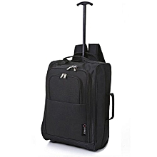 caa4a44ae6c Hand Luggage Cabin Bag With Trolley And Back Pack - Black