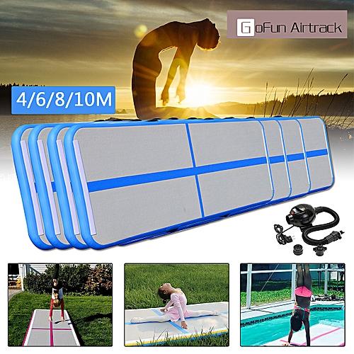 4/6/8/10M Inflatable Gym Mat Air Tumbling Track Gymnastics Cheerleading Mats W