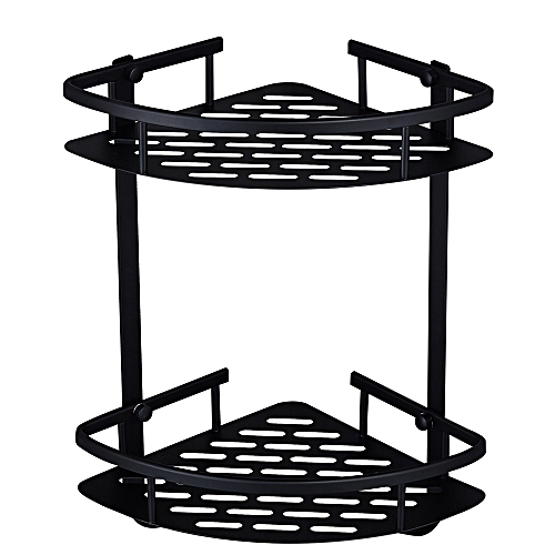 Double Layer Triangular Basket Wall Hanging Corner Rack Bathroom Shelves