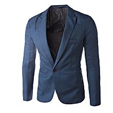 f9e6183acaaa 2017 Men's Clothing Blazer Men One Button Men Blazer Slim Fit Costume