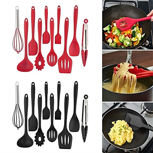 10 Sets Multi-function Silicone Silicone Leak Shovel Gifts Cookware