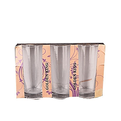 Glass Cups - 3 Piece Set- Clear