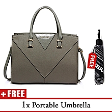 490385f420 Grey Anna Grace Shoulder Bag With A Unique News Paper Print Umbrella