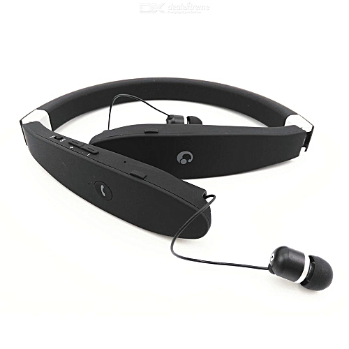 79cb42499c8 Generic SX-991 Wireless Bluetooth Headset Retractable Foldable Sweatproof  Headphone Sports Stereo With CVC Noise Cancelling Earphones(White)