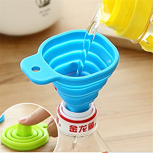 Kitchen Home Mini Food Grade Silicone Folding Telescopic Funnel