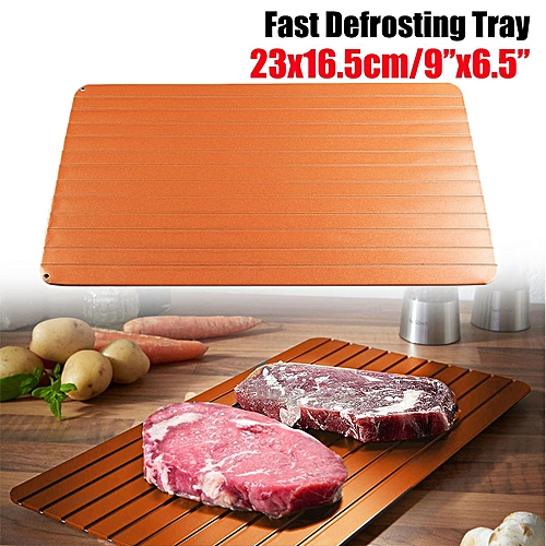 Fast & Easy Thawing Defrosting Tray Kitchen Safest Defrost Thaw Frozen Meat Food
