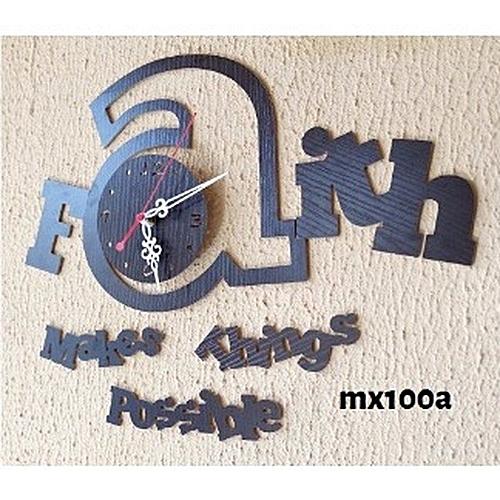 Faith Makes Things Happen 3d Acrylic Wall Clock Mx100