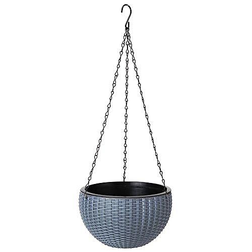 Hanging Rattan Chain Waven Flower Basket Pot Plant Holder Home Balcony Decor