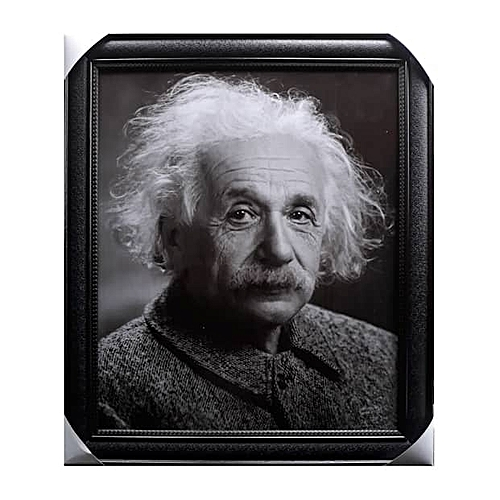 Framed Artwork Of The Grey Picture Of Albert Einstein