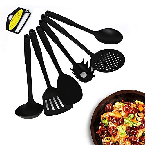 6 Pcs Plastic Kitchenware Culinary Nonstick Cookware Set Kitchen Tools Bakingware Kit Spatula Spoon Spaghetti Tools Cooking Sets