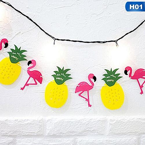 Flamingo And Pineapple Banner Bunting Summer Po Prop Tropical Hawaiian Bundles