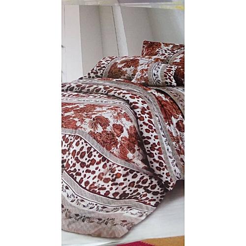 Brownish Duvet Bedsheet With 4 Pillow Cases And Duvet Bag