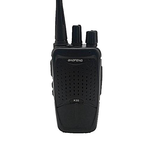 HT BAOFENG K35 400-470MHz 16Ch Mini Two-way Radio Walkie Talkie Rechargeble Black EU PLUG