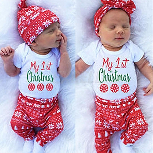 Buy Fashion 3pcs Set Cute Newborn Infant Toddle Baby Boy Girls First