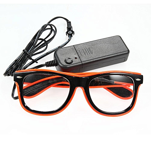 Fashion Top LED Glasses Wire Neon Light Up Shutter New Arrival Glow LED Glasses Rave Costume Party Bright SunGlasses 6 Color