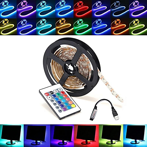 5M RGB LED Light Strip Bar TV Back Light USB Remote Control