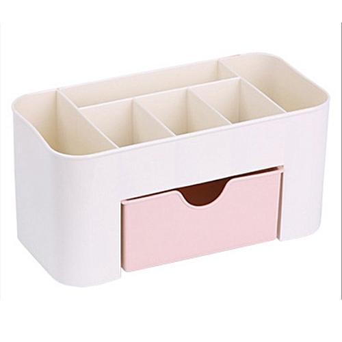 Desktop Makeup Organizer Plastic Storage Box Cosmetic Organizer Storage Case