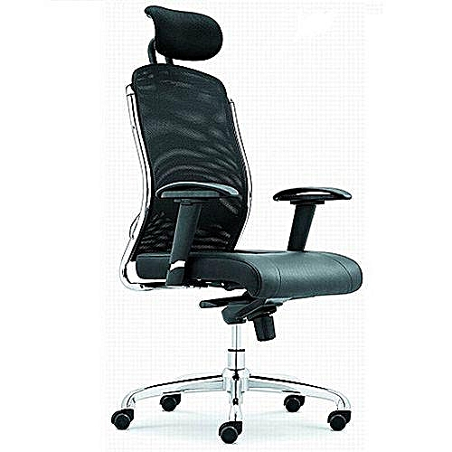 Executive Office Chair With Head Rest - Black
