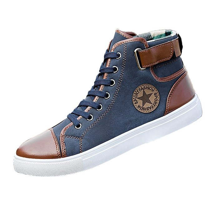 6979f19e9f Men Women Causal Shoes Lace-Up Ankle Boots Shoes Casual High Top Canvas  Shoes (EU SIZE)