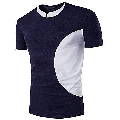 Trendy T-Shirt - Blue & White