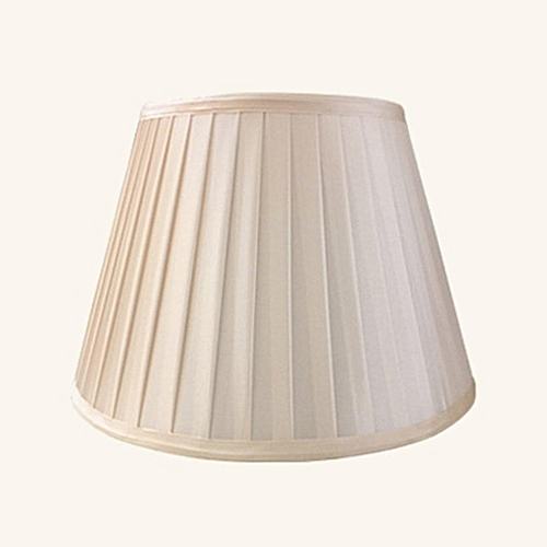 6'' To 20'' Fabric Box Pleat Lamp Shade Table Light Lampshade Mink Cream Ivoryr #260mm