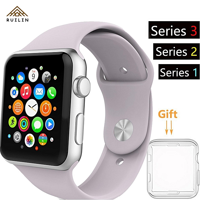 38mm IPhone Watch Band Series 1 Series 2 Series 3 Silicone Smart Apple Watch  Sport Band f14bbd751dff