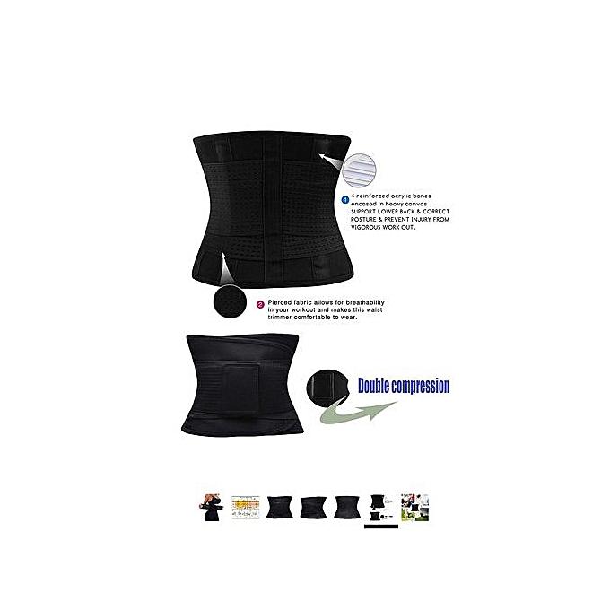 d8e9f9dfd85 ... Waist Trainer Belt For Women Waist Cincher Trimmer Slimming Body Shaper  Belt -Adjustable Sport Girdle ...