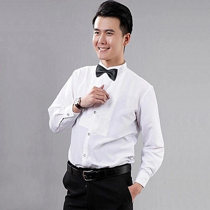 3daeeaa6c46e83 Fashion Quality Men Tuxedo Shirt - White | Jumia NG