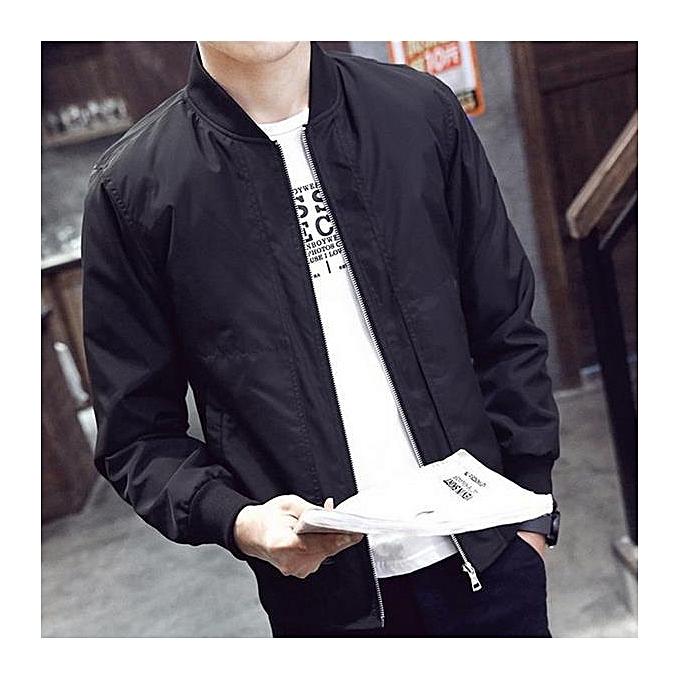43e627a9a0 2017 Casual Solid Fashion Slim Bomber Jacket Men Overcoat New Arrival  Baseball Jackets Men's Jacket