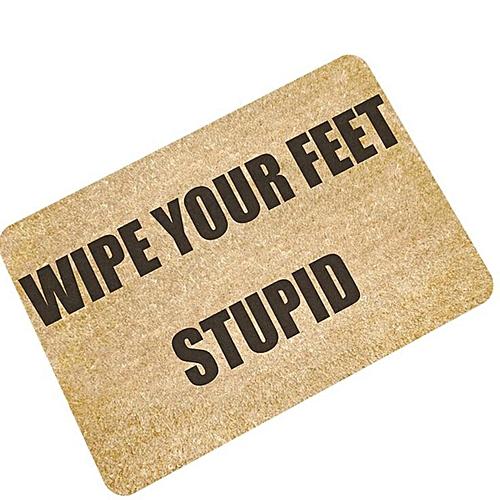 Letters Funny Door Mat Welcome Home Entrance Floor Rug Non-slip Doormat Carpet #wipe Your Feet