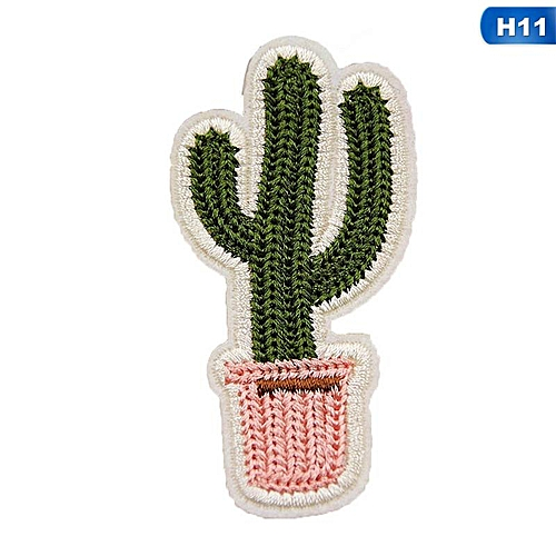 Eleganya Creativity Lovely Embroidery Plant Clothing Shoes Simple Cloth Stickers H11