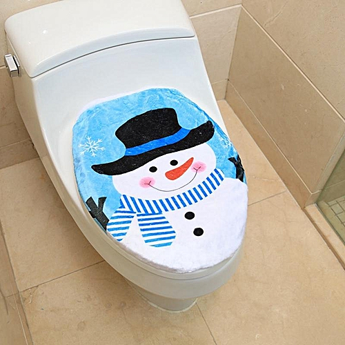 Christmas Decorations For Home Toilet Cover New Year Snowman Christmas Decoration