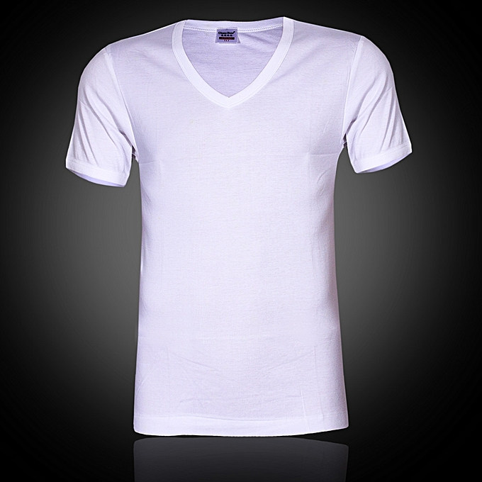 7c80a0e4beb3 Chase Deer Plain White V-Neck T-Shirt | Jumia NG