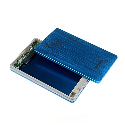 USB 3.0 External Case 2.5Inch SATA Hard Disk Drive HDD SSD Enclosure BU-Blue
