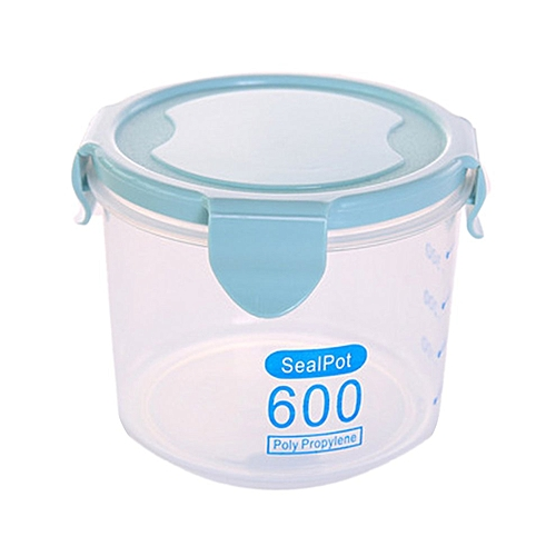 Multi-functional Plastic Sealed Cans Home Kitchen Food Grain Storage Jar Blue