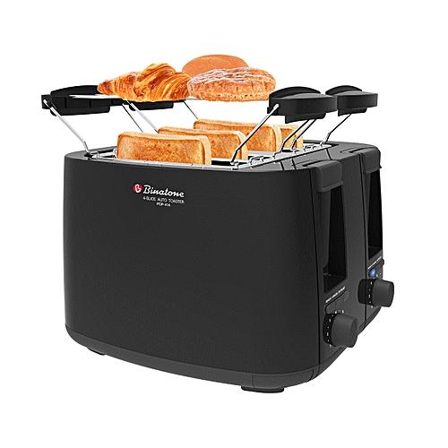 Four Slice Auto Pop-up Toaster POP-414 - BLACK